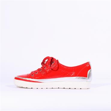 Caprice Laced Casual Shoe - Red