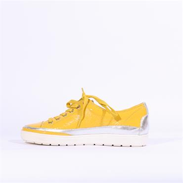 Caprice Laced Casual Shoe - Yellow