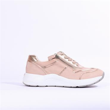 Caprice Kiss Chunky Side Zip Trainer - Rose Gold