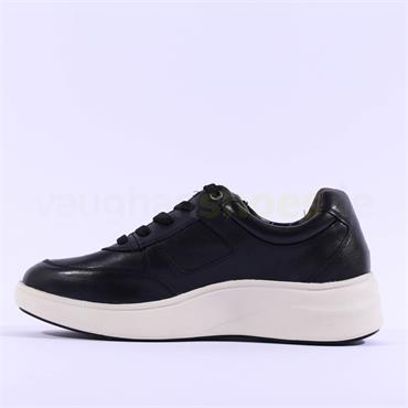 Caprice Nelly Chunky Sole Comfy Trainer - Black Leather