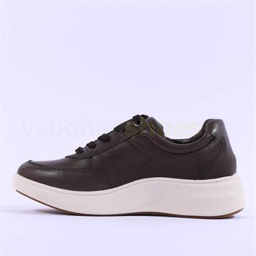 Caprice Nelly Chunky Sole Comfy Trainer - Moss Leather
