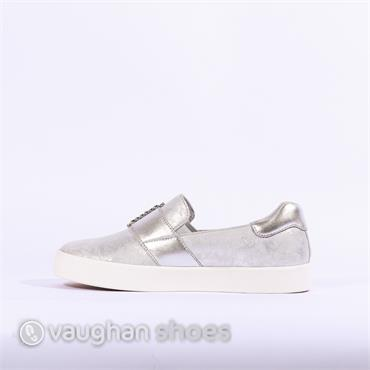 Caprice Slip On Shoe Jewel Buckle - Silver