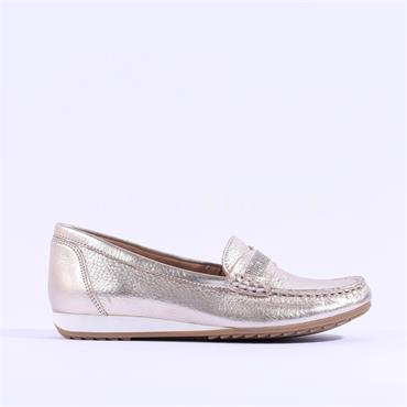 Caprice Deer Leather Loafer Inoxy - Platinum