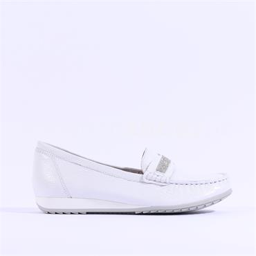 Caprice Deer Leather Loafer Inoxy - White