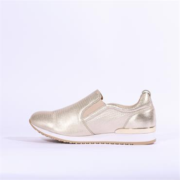 Caprice Ginga Slip On Trainer - Gold