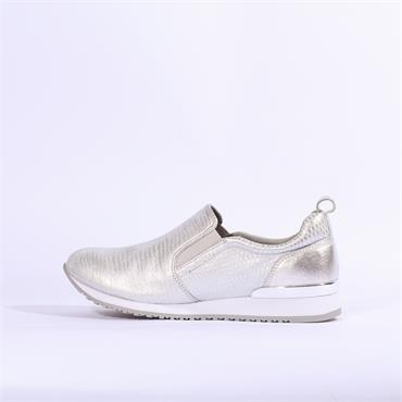 Caprice Ginga Slip On Trainer - Silver