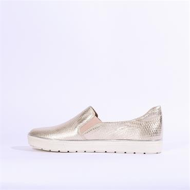 Caprice Manou Slip On Casual Shoe - Light Gold