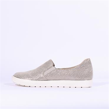 Caprice Slip On Snake Print Shoe - Grey Snake