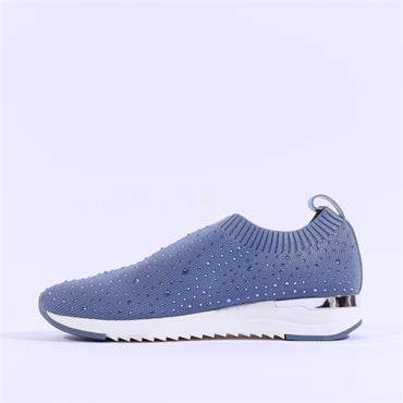 Caprice Slip On Stud Trainer Kaiafly - Blue Fabric