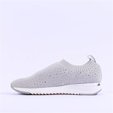 Caprice Slip On Stud Trainer Kaiafly - Grey Fabric