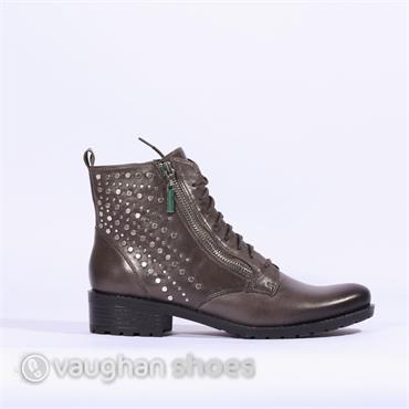 Caprice Boot Side Zip Stud Detail - Dark Grey