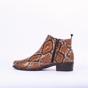 Caprice Side Gusset Ankle Boot Kelli - Snake Combi