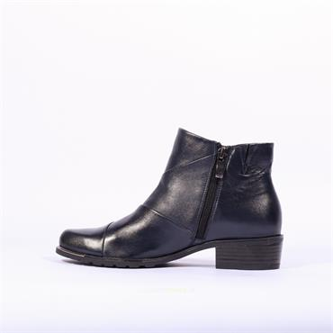 Caprice Patchwork Ankle Boot Kelli - Navy Leather