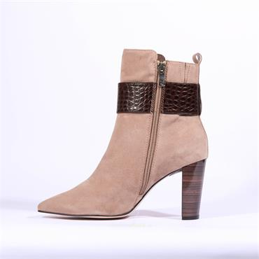 Caprice High Strap Buckle Boot Effi - Taupe Suede