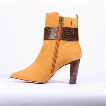 Caprice High Strap Buckle Boot Effi - Yellow Suede