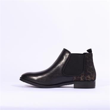 Caprice Joleen Ankle Boot Side Gusset - Black Leopard