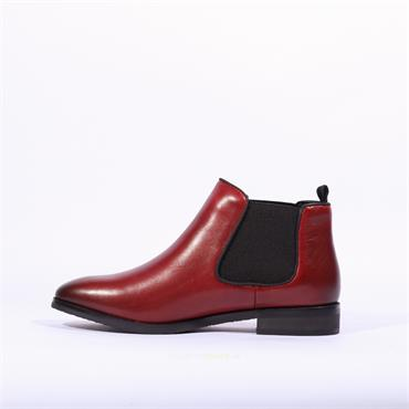 Caprice Joleen Flat Gusset Boot - Dark Red