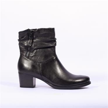 Caprice Folder Cuff Ankle Boot Balina - Black Leather