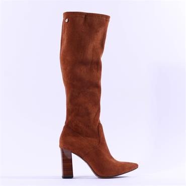 Caprice Effi Knee High Block Heel Boot - Brandy