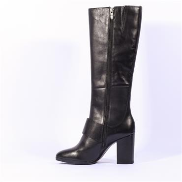 Caprice  Hh Knee Boot With Buckle - Black