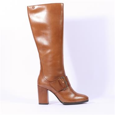Caprice  Hh Knee Boot With Buckle - Tan