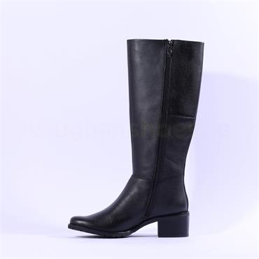 Caprice Fiona Knee High Stretch Boot - Black Combi
