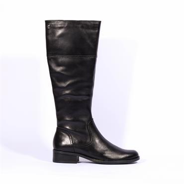 Caprice Knee High Flat Boot Kania - Black