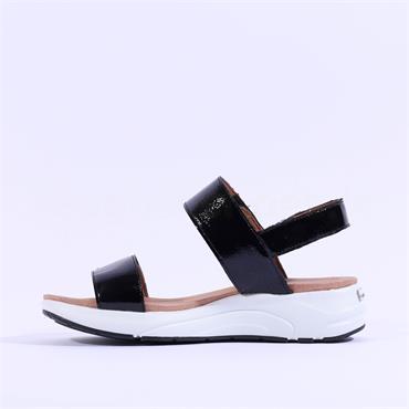 Caprice Platform Slingback Sandal Maja - Black Patent
