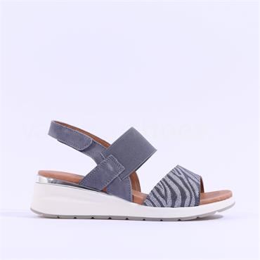 Caprice Wedge Slingback Sandal Milano - Denim Multi