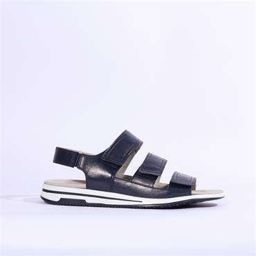 Caprice 3 Strap Velcro Sandal - Navy