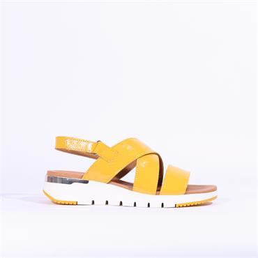 Caprice Kandy Strappy Flat Sandal - Yellow