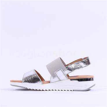 Caprice Slingback Strappy Sandal Kandy - Silver Metallic