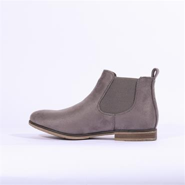 Rieker Flat Boot With Side Gusset - Grey