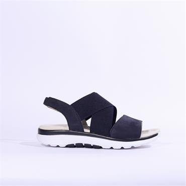 Gabor Rolling Soft Strappy Sandal Sacred - Navy