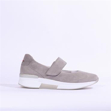 Gabor Rolling Soft Quip Velcro Strap - Grey Suede