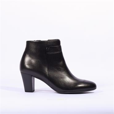Gabor Matlock Block Heel Ankle Boot - Black