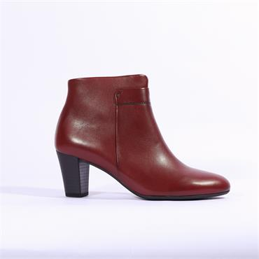 Gabor Matlock Block Heel Ankle Boot - Dark Red