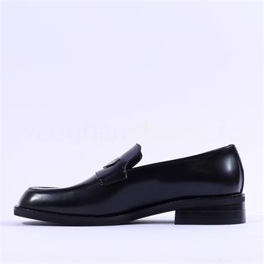 Marco Moreo Miu Slip On Loafer - Black Leather