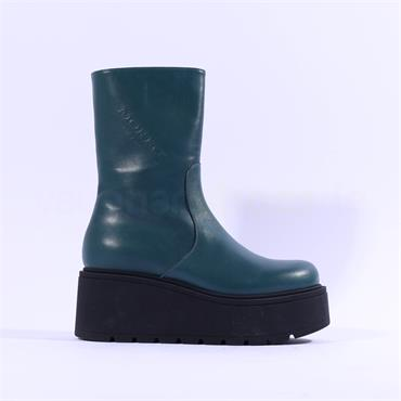 Marco Moreo Vale Platform Ankle Boot - Petrol Leather