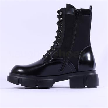Marco Moreo Harley Laced Military Boot - Black Combi