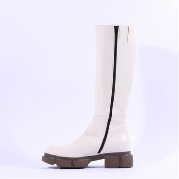 Marco Moreo Harley Knee High Boot - Off White Leather
