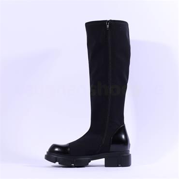 Marco Moreo Harley Knee High ToeCap Boot - Black Combi