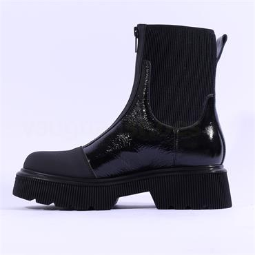 Marco Moreo Balencia Zip Up Gusset Boot - Black Patent