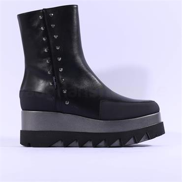 Marco Moreo Jackie Stud Detail Boot - Black Leather