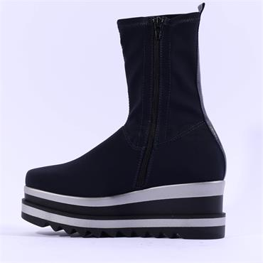 Marco Moreo Luna Stretch Ankle Boot - Navy
