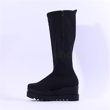 Marco Moreo Luna Knee High Stretch Boot - All Black