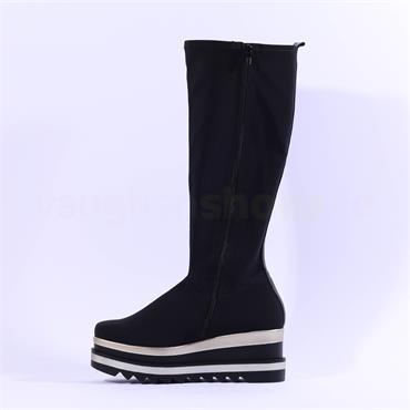 Marco Moreo Luna Knee High Stretch Boot - Black Gold