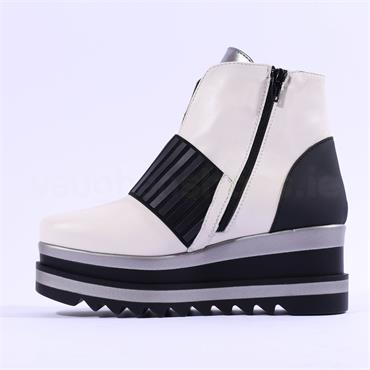 Marco Moreo Luna Stretch Band Boot - White Leather