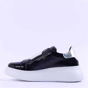 Marco Moreo Alex Slip On Band Trainer - Navy Patent