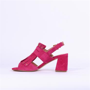 Amy Huberman Platinum Blonde - Fuchsia Suede